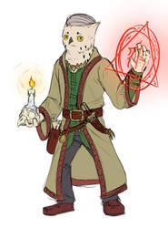 [Owlboy/DD] Occultist Solus by Hiaennyddei
