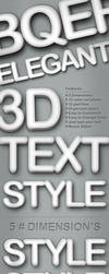 3D Text Style - 5 Dimensions by femographi