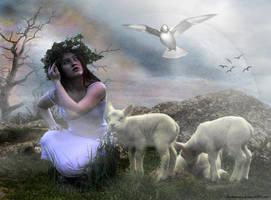 The Shepherd girl by Ruskatukka