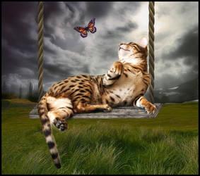 Spring Cat by Ruskatukka
