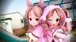 .:MMD:. Lil' Wolf Cuties~! by A-Daiya