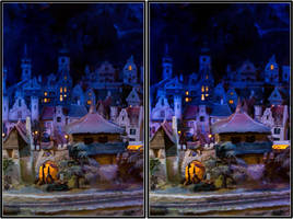 Village At Night - CE3D by NightSheep