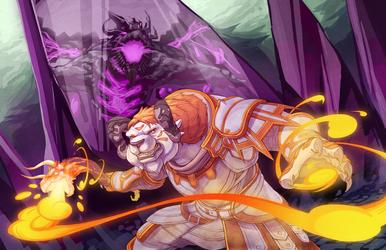 Oro vs. the Shatterer by Orangetavi