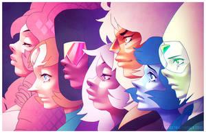 Gems of Steven Universe by Orangetavi