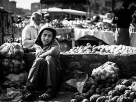 Potato Seller by InayatShah