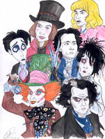 -JOHNNY  DEPP- by DemonCartoonist