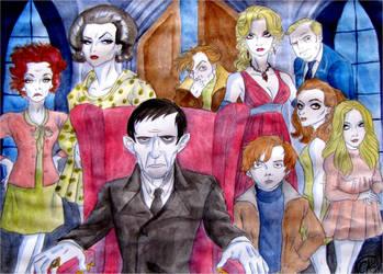 Dark Shadows Cast by DemonCartoonist