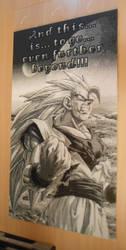 Son Goku SSJ3 (40k Artkal-Mini-Beads) by FTWBAmanojaku