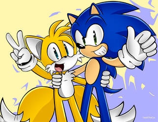 Sonic and Tails by SonicsChilidog