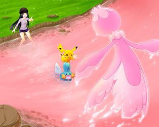 The Red Lake - Catching Medusa by sasuki-chan