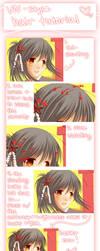 Visual Novel-style Hair Coloring Tutorial by Chiroyo