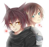 [FFXIV ARR] Itsuki + Yuu by Chiroyo