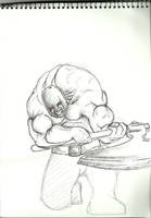Axe-man by drhamtology