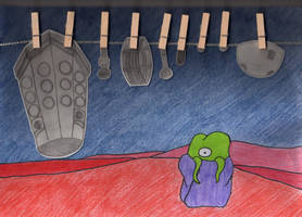 Dalek's wash day by Alondra-chui