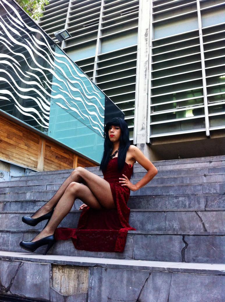 Red Dress TGirl 01 - LightningTV by LightningTV
