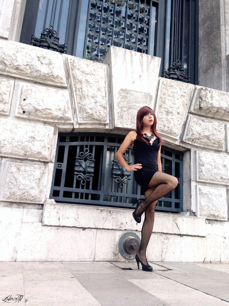 Black and Rose Dress by LightningTV