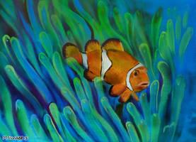 Clown fish by 0becomingX