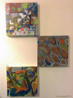 Abstract trio by 0becomingX