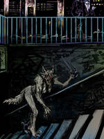 Werewolf in the Subway by 0becomingX