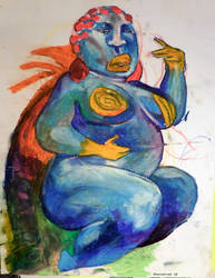 Blue goddess by 0becomingX