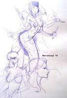 Snake woman by 0becomingX