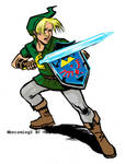 Link he come to town to save the day by 0becomingX