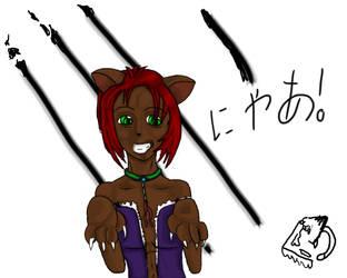 Neko-chan Colored by Kuroheart976