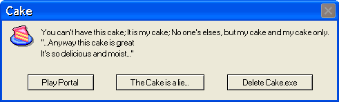 Windows cake error by Dell-Guy