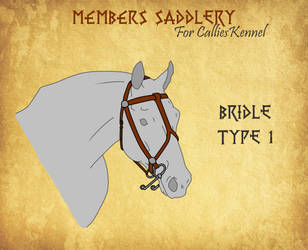 Bridle Type 1 for CalliesKennel by BlueAlexArts