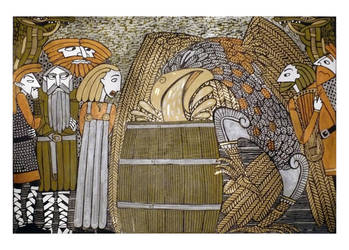Odin and the Mead of Poetry by Hellanim