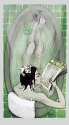 In The Bath by Hellanim