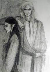 Erestor and Glorfindel by Hellanim