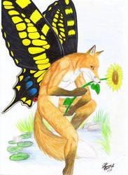 butterfly Fox by EosFoxx