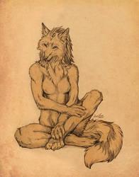 Cheeky vixen sitting pretty by EosFoxx