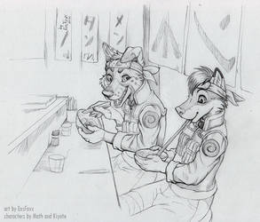 Ramen break by EosFoxx