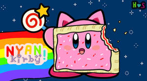 Nyan Kirby by Horror-Scarred