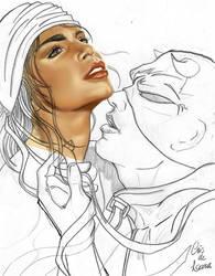 DaredevilandElektra_Draw by CrisdeLara