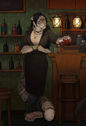 Another Evening, Another Glass (Comm) by Kate-Venom