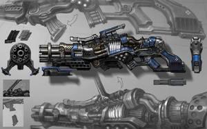 machine gun by rabbiteyes