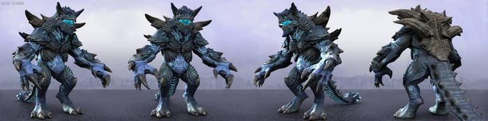 Kaiju Titanus Turntable All Render by Marcus-Dublin
