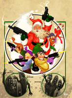 Santa Shootin' Zombies by StudioSmugbug