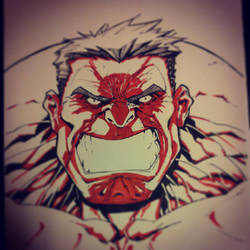 Red Hulk by TheChu