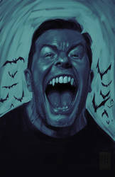 Ricky Gervais caricature by TheChu