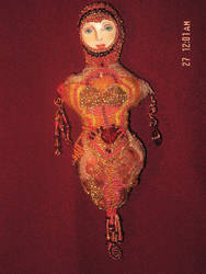 Beaded doll by vivage