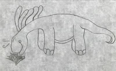 Amargosaurus Sketch by TuxedoToad