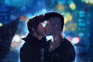 A Kiss in the Rain by SeerLight