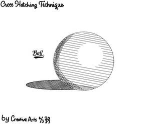 Ball (Cross Hatching Technique) by CreativeArts723