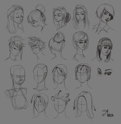 Hair practice by mary3m
