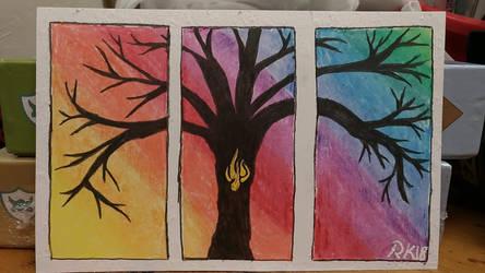 Fire tree by KuraiYaminoChan