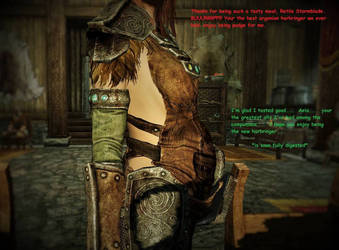 Aela The Huntress Ate Me by reptilemk5